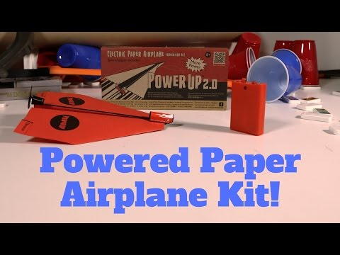 Motorized Paper Airplane Kit! Power Up 2.0 Paper Airplane Motor - Random Unboxing