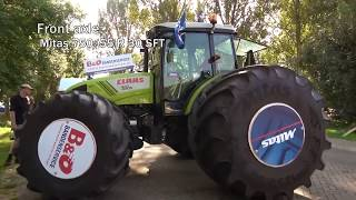 SWIMMING TRACTOR!!! Mitas Tires Walk on Water