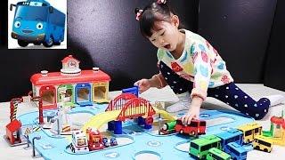 Tayo the Little Bus Garage Station Toys Playset тайо маленький автобус Игрушки 꼬마버스 타요의 중앙차고지 도로놀이