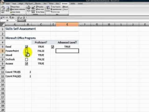 How to Add a Check Box Control to an Excel Form