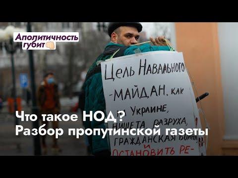 Что такое НОД? Разбор пропутинской газеты в штабе Навального