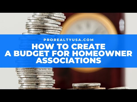 How To Create Condo Budget For HOA Communities