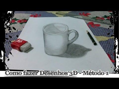 Como Fazer Desenhos 3d Metodo 1 Youtube