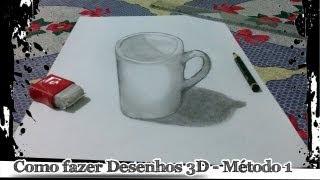 Como fazer desenhos 3D - Método 1
