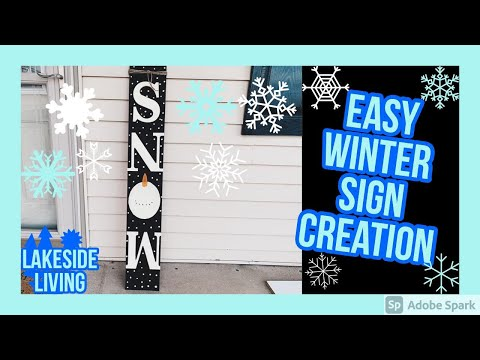 DIY Winter Snow Sign Made Easy | It's Winter Series