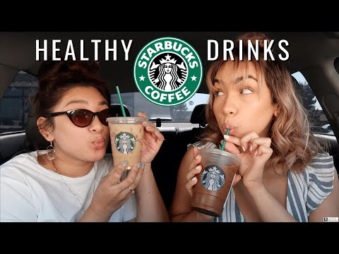 TRYING HEALTHY STARBUCKS DRINKS