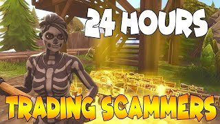 24 Hours Trading Scammers 😴😪 Scammer Gets Exposed In Fortnite Save The World
