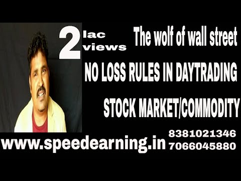 The wolf of wall street NO LOSS RULES IN DAYTRADING OF STOCK MARKET/COMMODITY
