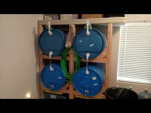 Water Storage Blue Plastic Water Barrels