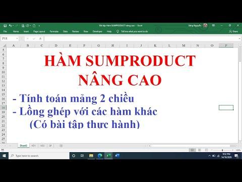 Cách sử dụng hàm SUMPRODUCT nâng cao