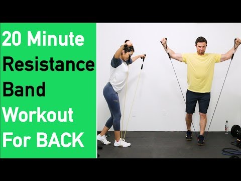 Resistance Band Workout For Back Great Back Workout At Home 20
