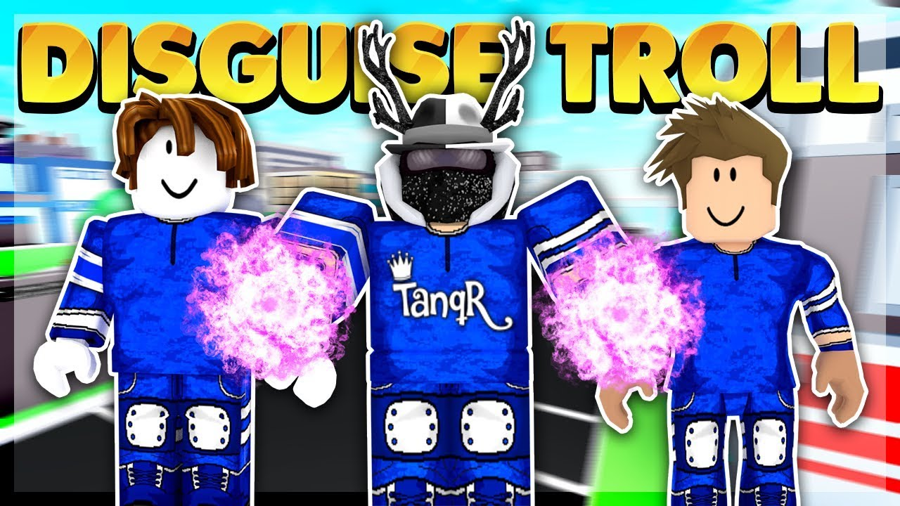 Tanqr Disguise Trolling On Superhero City Roblox Youtube