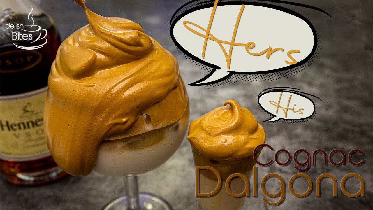 Alcohol Dalgona Coffee (Cognac Whipped Coffee for Quarantine)