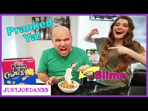 Prank Week! - My Dad Thought Slime Was Milk! (Super Funny) / JustJordan33