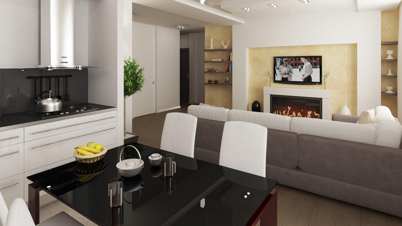 Дизайн кухни-гостиной - 100 фото кухни совмещенной с гостино.