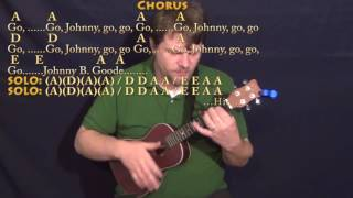 Johnny B. Goode (Chuck Berry) Ukulele Cover Lesson with Chords/Lyrics - Capo 1st