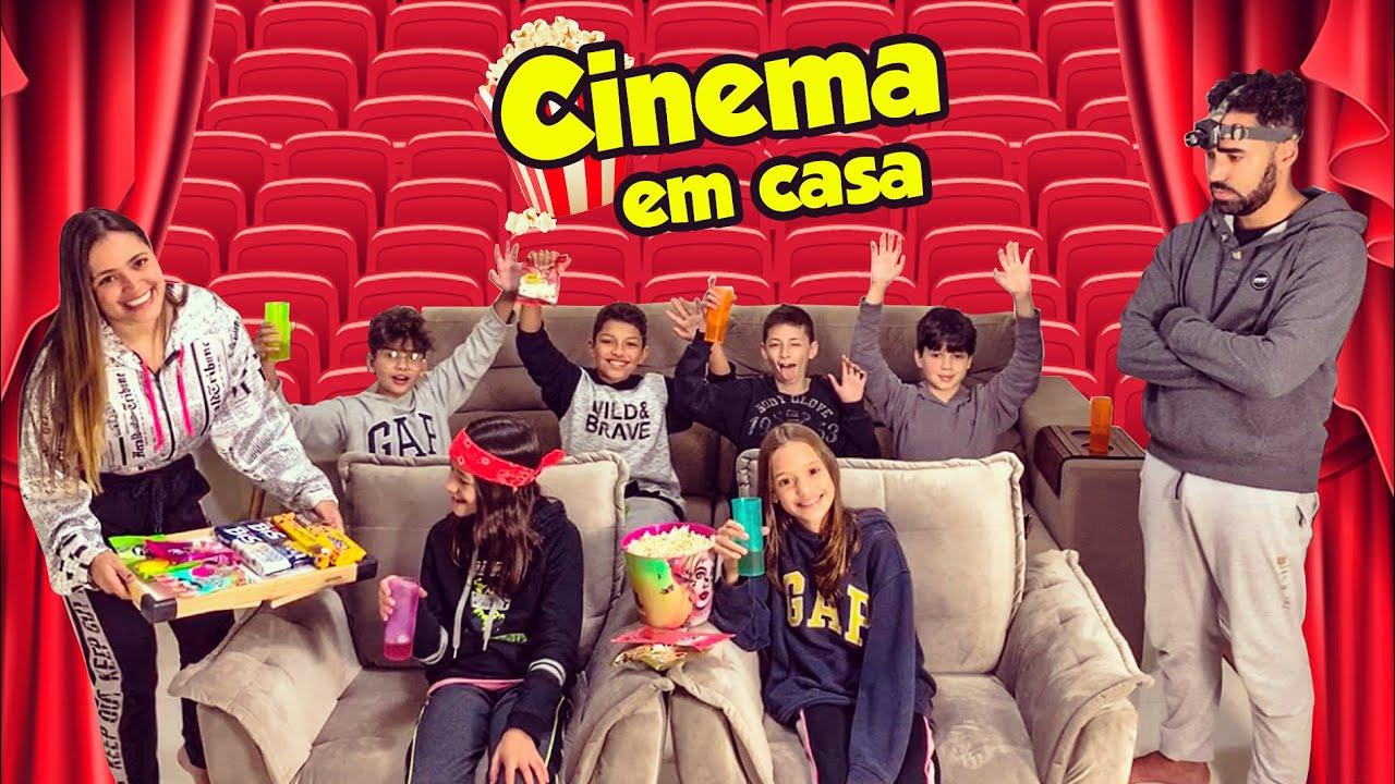 TRANSFORMEI A CASA NOVA EM UM CINEMA PROFISSIONAL