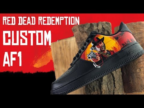 RED DEAD REDEMPTION CUSTOM AIR FORCE 1'S