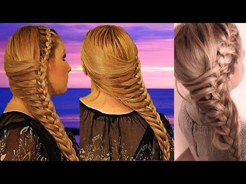 TRENZA OTOÑO INVIERNO 2013,2014 peinado cute para cabello largo y mediano , YouTube