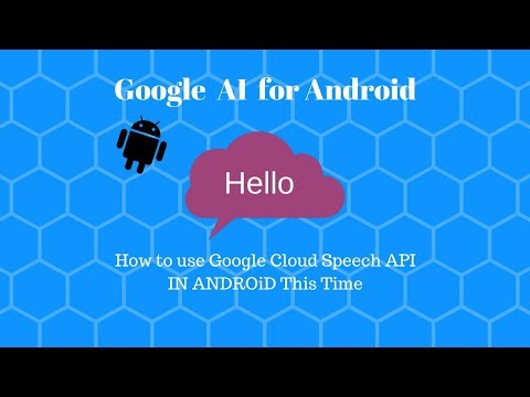 How to use Google Cloud Speech API in ANDROID STUDIO - YouTube