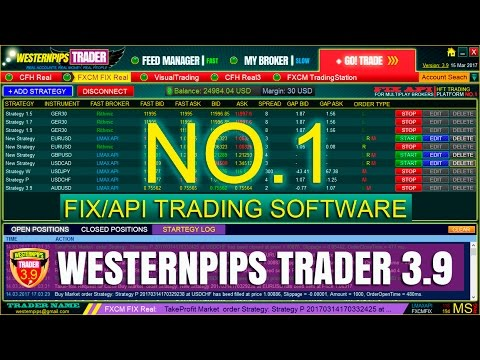 High Frequency Trading: Westernpips FIX Trader 3.9 Software