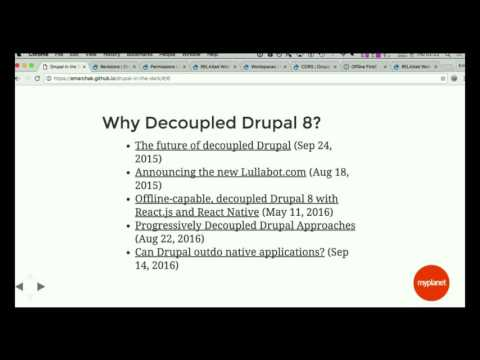 Drupal in the Dark: Offline-ready Decoupled Drupal 8 Using React & PouchDB