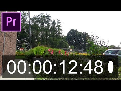 How to Add Timecode in Premiere Pro! Time in Adobe Premiere!
