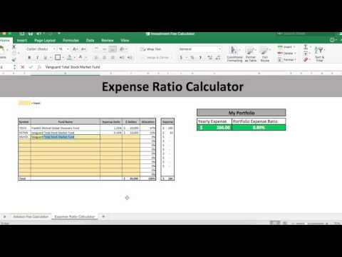 How to Calculate Expense Ratios using Expense Ratio Calculator