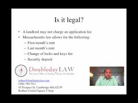 Are Apartment Rental Application Fees Legal In Massachusetts Youtube