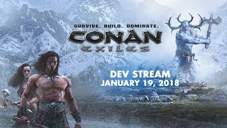 Conan Exiles dev stream - Let's Teach Andy How To Play