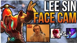 LEE SIN WITH FACE CAM | Lee Sin vs. Kha'zix Full Game Commentary - League of Legends