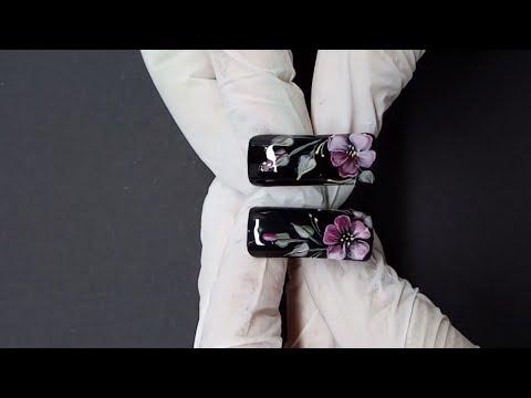 Жостовская роспись на ногтях