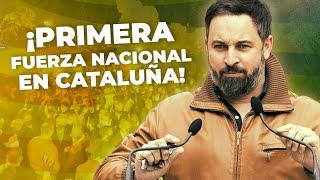 Santiago Abascal tras conocer que VOX se convierte en primera fuerza nacional en Cataluña