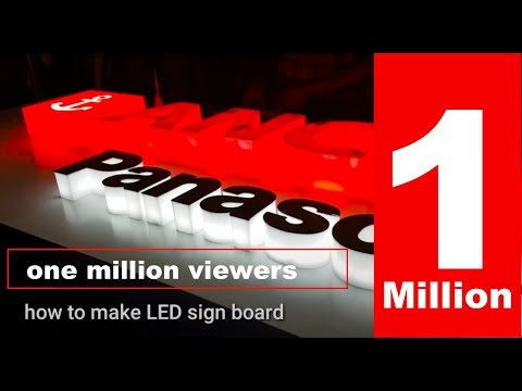 How To Make LED Sign Board  3D Letter Making  Future Of Signage Letters , Acp Sign Board