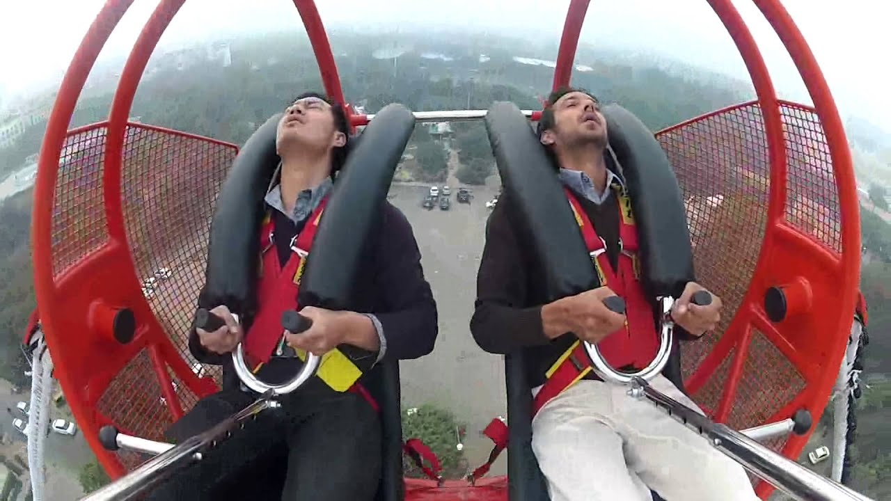 kingdom of dreams - reverse bungee jumping - youtube