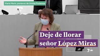 María Marín en la moción de censura: