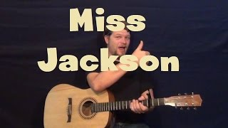 Miss Jackson (Panic! At the Disco) Easy Guitar Lesson How to Play Tutorial