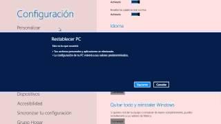 Windows 8 Tips Trucos Secretos  - 08 Quitar Todo y Restaurar Windows
