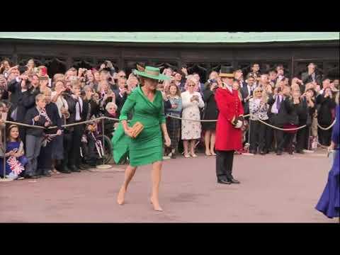 Royals arrive for Princess Eugenie's wedding