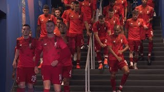 Liverpool and Spurs players come out of the tunnel to incredible reception