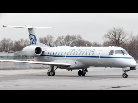 """Trans State Airlines """"Retro Livery"""" Embraer ERJ-145 (E145) landing & departing Montreal (YUL/CYUL)"""