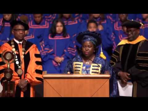 Prof. Angela Miri's Speech at Morgan State University Founders Day Convocation 2017 in USA