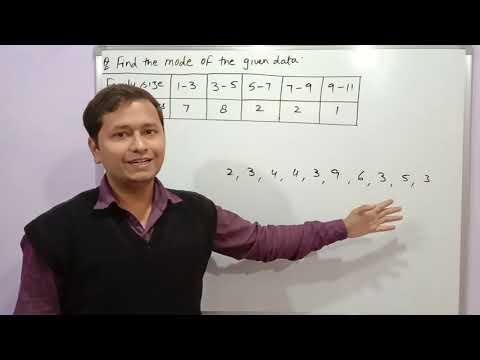 Statistics mode class 10
