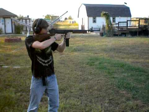 Zeke shooting Auto Ordnance Thompson M1