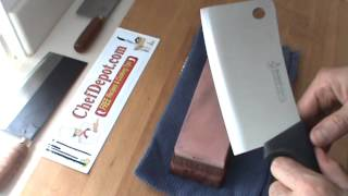 how to sharpen a cleaver