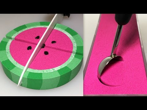 Very Satisfying And Relaxing Compilation 109 Kinetic Sand ASMR