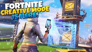 FORTNITE x MINECRAFT! CREATIVE MODE IS HERE!