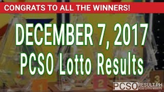 PCSO Lotto Results Today December 7, 2017 (6/49, 6/42, 6D, Swertres, STL & EZ2)