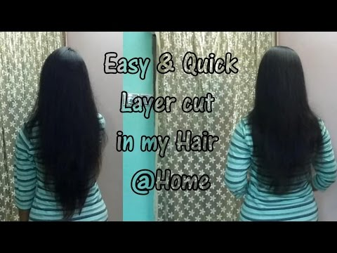 Thumbnail: Easy & Quick Layer cut in your own hair @home