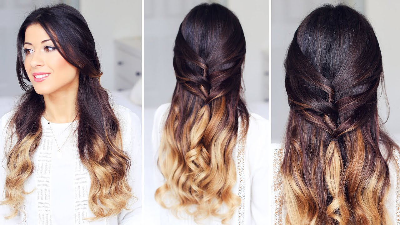 Cute Half Up Half Down Hairstyle YouTube
